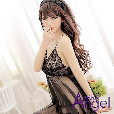 Angel天使 性感蕾絲透明吊帶睡裙情趣內衣火辣SM騷縷空 BP097