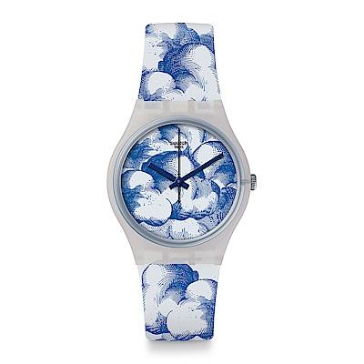 Swatch DUTCH SKIES 跨界經典-雲朵浪潮手錶