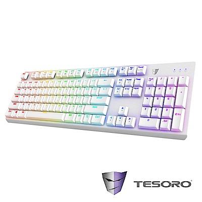 【TESORO鐵修羅】剋龍劍Gram RGB機械式鍵盤-青軸中文|白