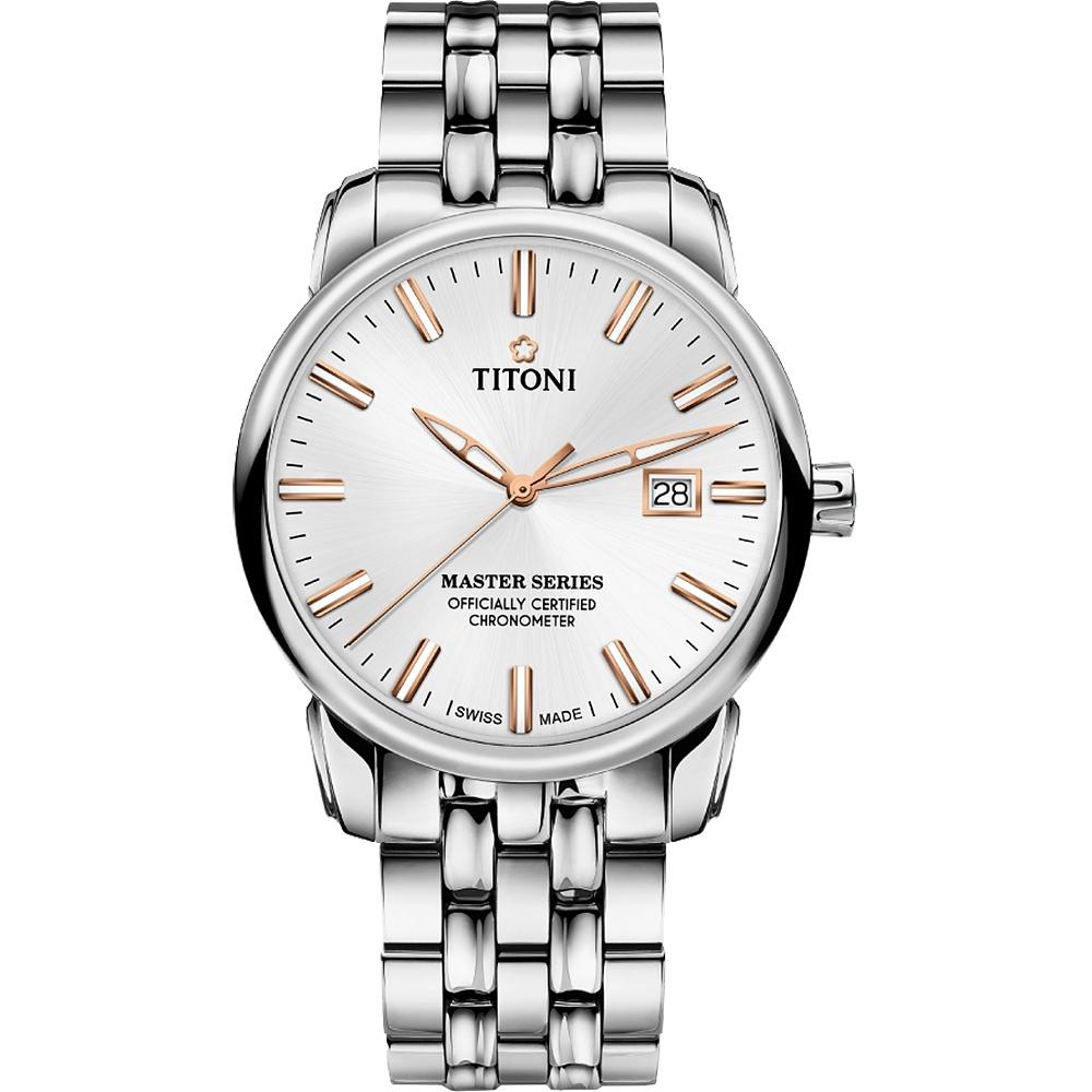 TITONI 梅花錶 大師系列天文台認證12生肖限量機械錶(83188 S-575RZ)