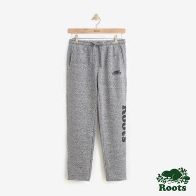 ROOTS 女裝- 反光LOGO刷毛休閒棉褲-灰色