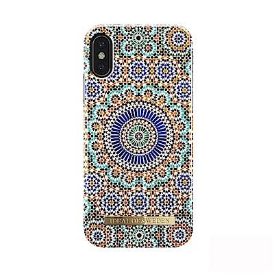 iDeal iPhone X/XS 瑞典北歐時尚手機保護殼-摩洛哥幾何藝術