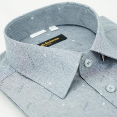 【金‧安德森】灰色箭頭窄版短袖襯衫