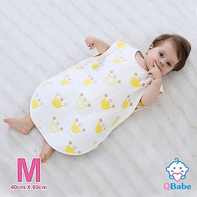 QBabe 全棉六層紗 寶寶兒童四季防踢被-黃色皇冠-M