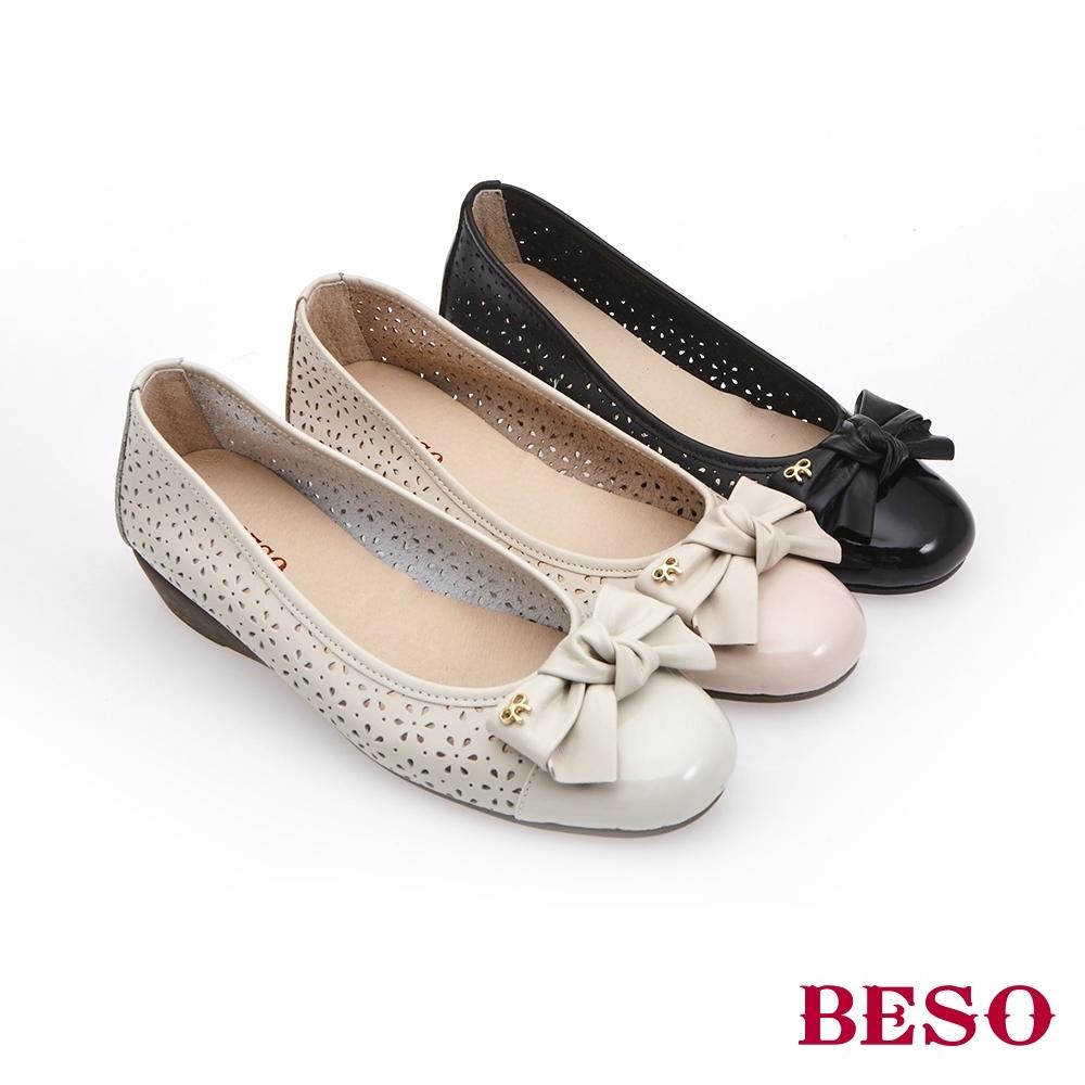 BESO時尚流行-國民小資女圓頭船台娃娃鞋(網路獨家款)-黑色
