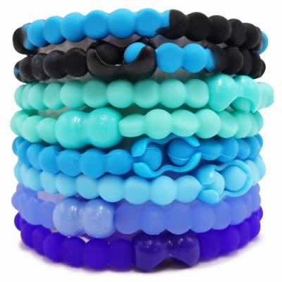 Pro Hair Tie 扣環髮圈8件組-莫蘭迪低彩藍綠