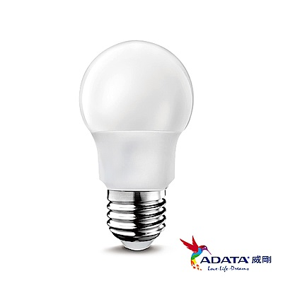 ADATA威剛 3W 大廣角高效LED燈泡8入組(白光/黃光)