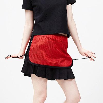 ICHE 衣哲 馬甲式綁帶拼接造型裙