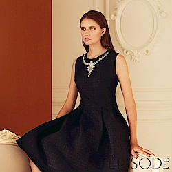EPISODE - 優雅領邊鑽飾無袖洋裝