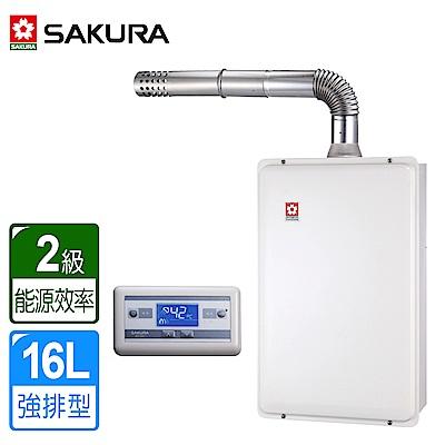 櫻花牌 16L浴SPA 數位恆溫強排熱水器 SH-1691(天然瓦斯) 限北北基桃中高配送