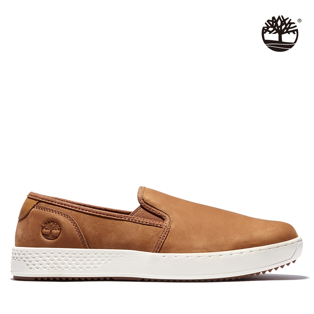 Timberland 男款銹鐵棕磨砂革輕質帆船鞋|A2HS1
