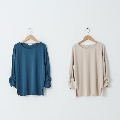 【KiKi】袖扭結造型針織衫-上衣(二色/魅力商品/版型適中)