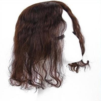 米蘭精品 假髮片真髮絲-30cm捲髮補髮塊透氣女假髮母親節禮物2色73us17
