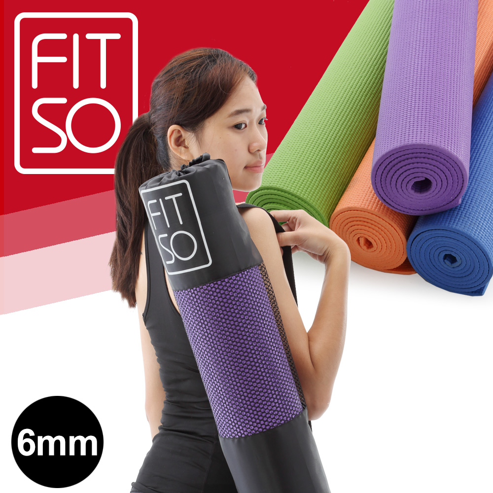 【FIT SO】PVC 瑜珈墊6mm product image 1