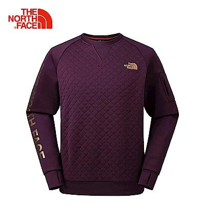 The North Face北面男款棕色透氣速乾舒適長袖T恤 | 3LBH3YE