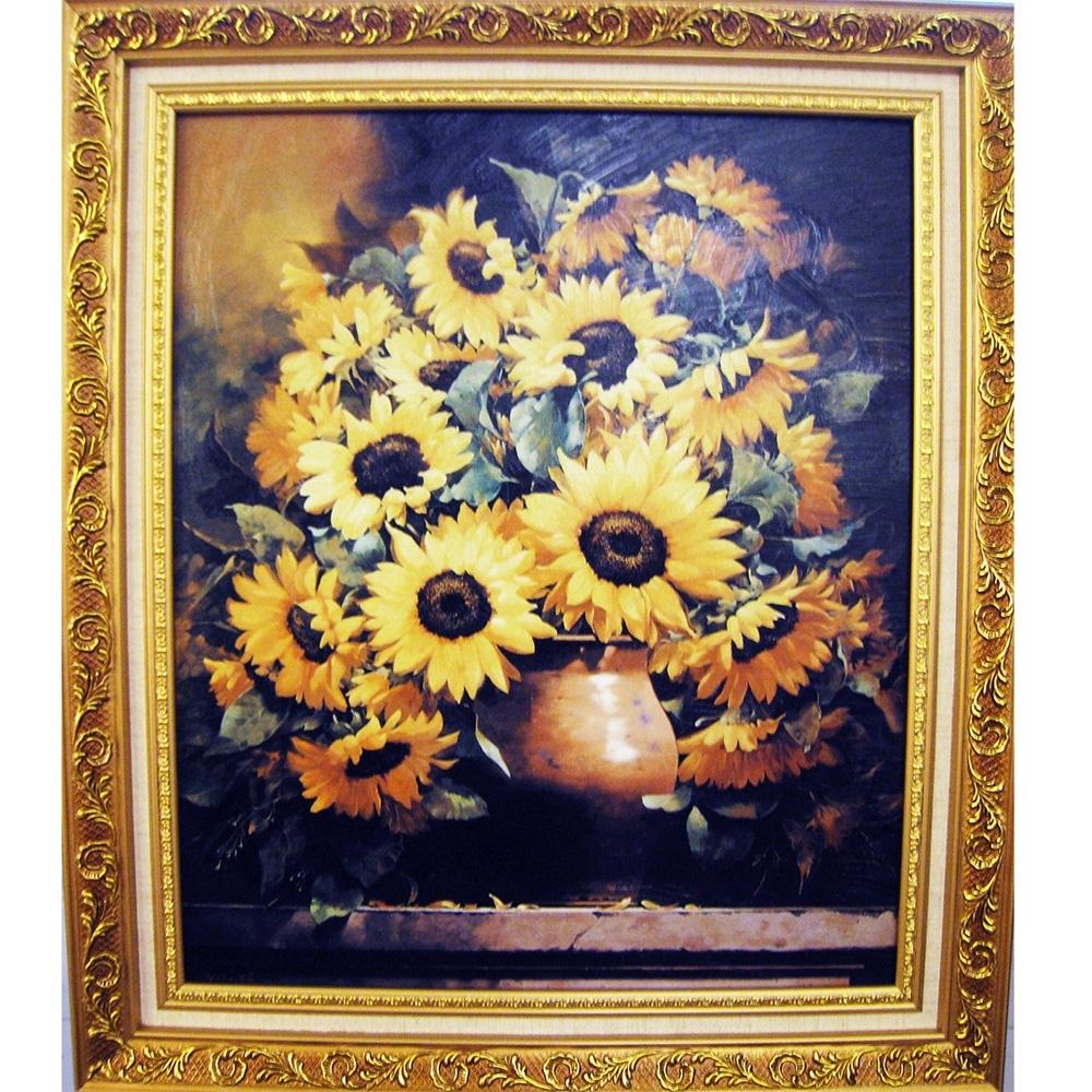 柔美系列 畫作--太陽花【好運向日葵】52x60cm