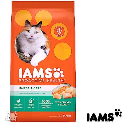 IAMS 愛慕思 健康優活 雞肉+鮭魚 化毛 成貓糧 7磅