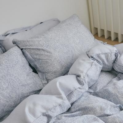 翔仔居家 台灣製 100%天絲薄被套&床包4件組-Blueming (加大)