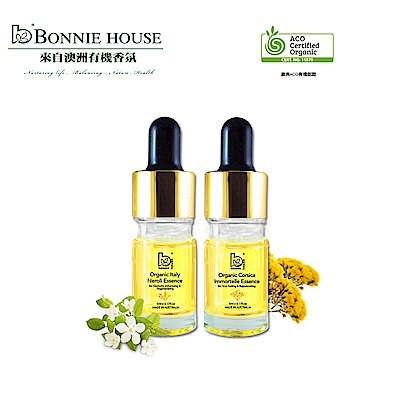Bonnie House 活化淨白組_義大利玉脂橙花原精5ml+科西加島黃金蠟菊原精5ml