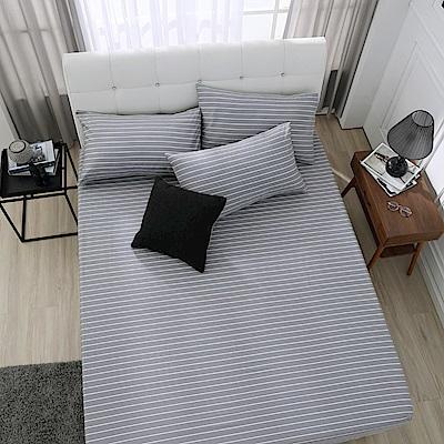 鴻宇 100%精梳棉 巴洛克 單人床包枕套二件組