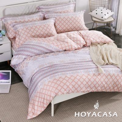 HOYACASA紐約風情 雙人四件式抗菌天絲兩用被床包組