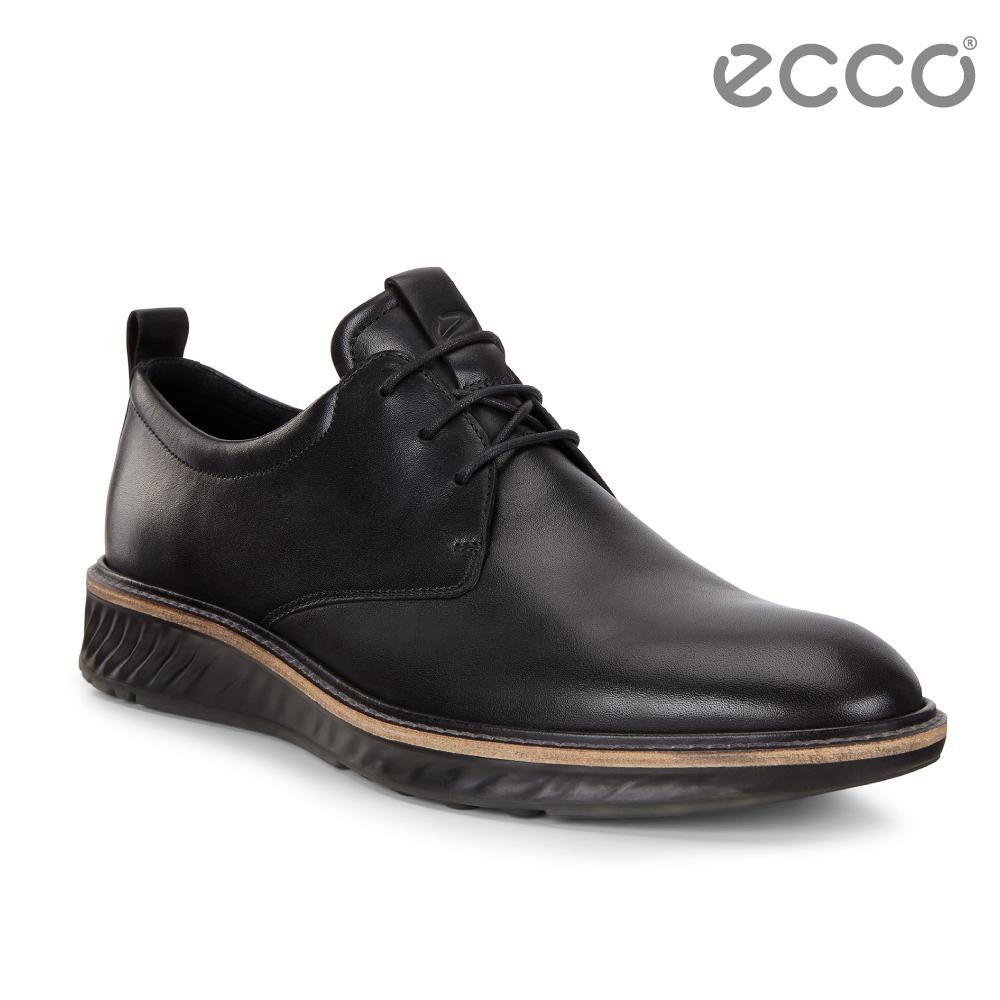 ECCO ST.1 Hybrid 運動紳士牛津正裝鞋 男-黑