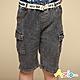 Azio Kids 男童 短褲 側雙口袋牛仔短褲附編織皮帶(黑) product thumbnail 1