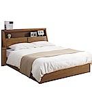 品家居 紐斯頓5尺實木雙人床台組合(不含床墊)-152x221x105cm免組