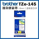 Brother TZe-145 護貝標籤帶 ( 18mm 透明底白字 )