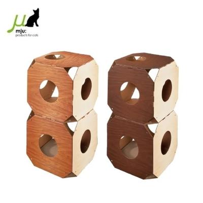 【一組二入】日本Gari Gari Wall(MJU)組合式隧道貓抓板 不挑色隨機出貨 (購買第二件贈送寵鮮食零食1包)