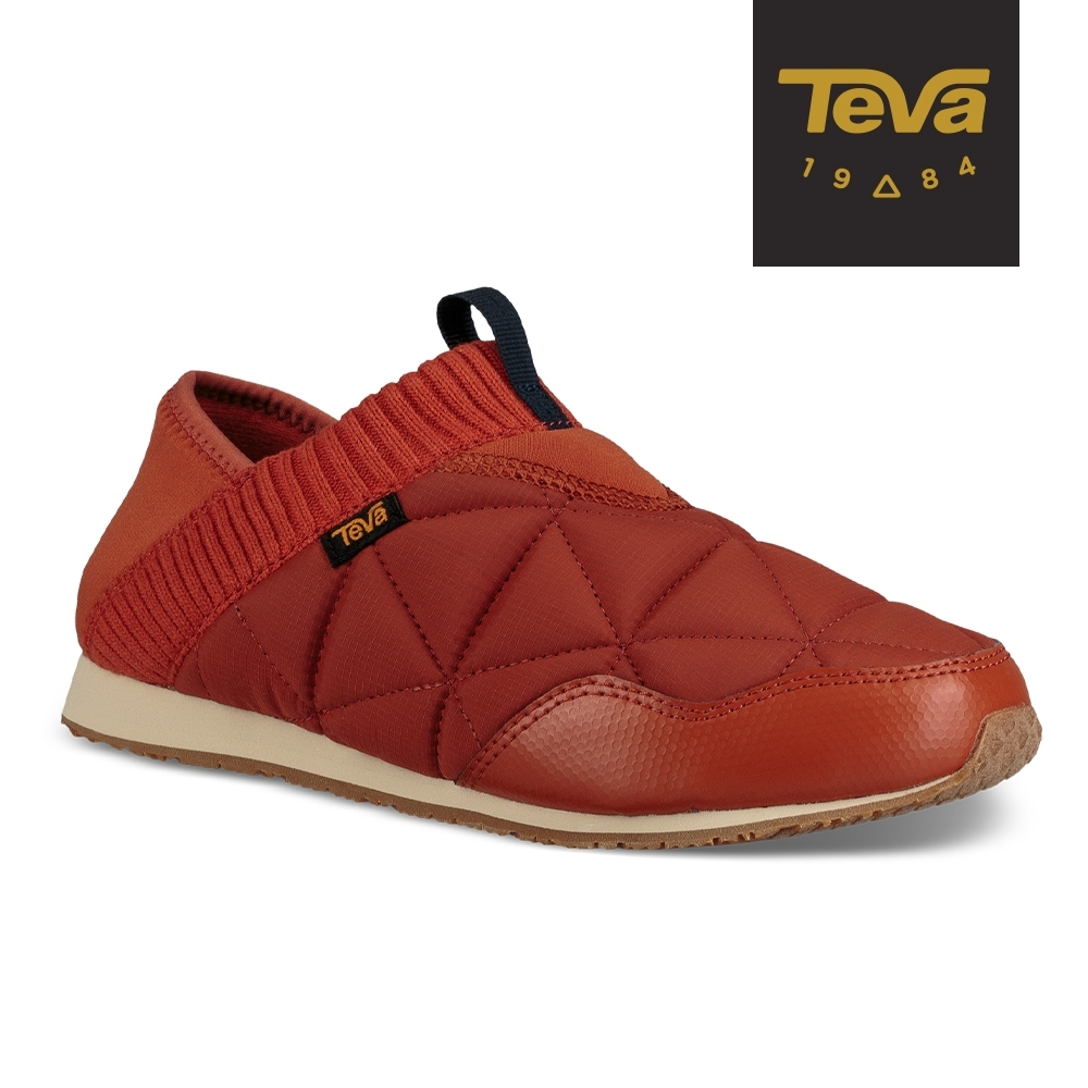 【TEVA】原廠貨 女 Ember Moc 防潑水菠蘿麵包鞋/休閒鞋/懶人鞋(茶色-TV1018225RTEA)