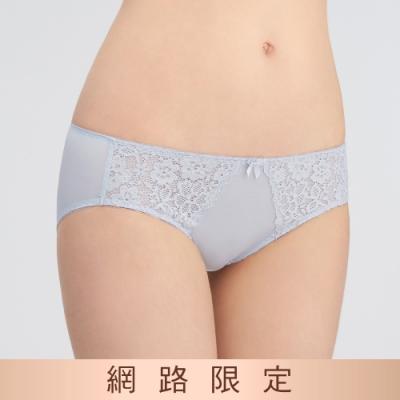 黛安芬-美型嚴選系列中腰三角內褲 M-EL 神秘灰