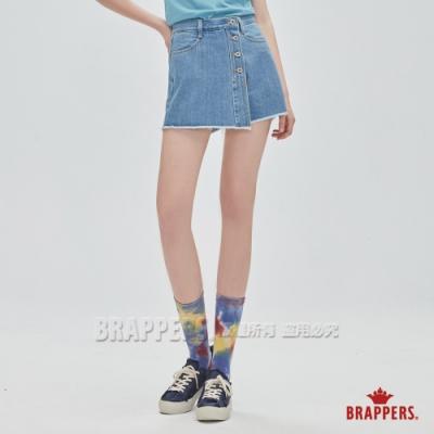BRAPPERS 女款 Boy friend系列-高腰全棉褲裙-淺藍