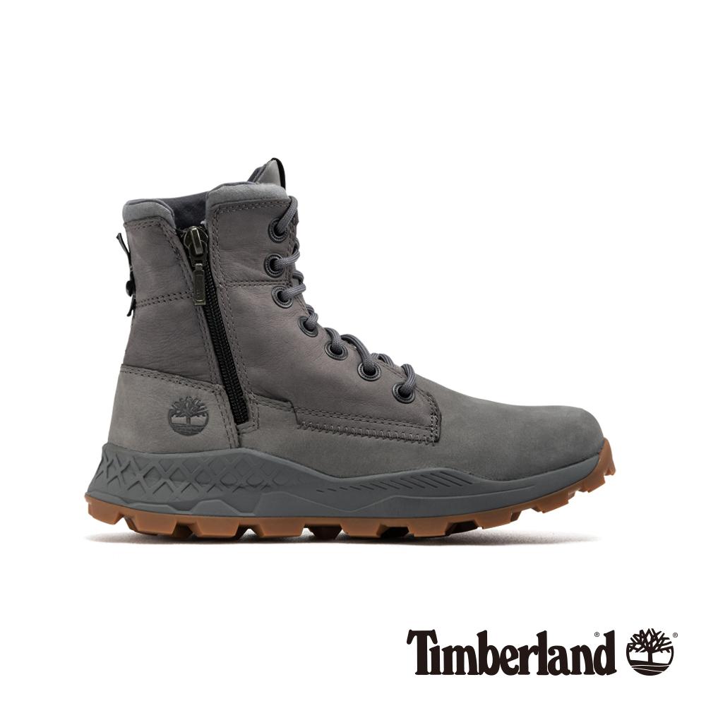 Timberland 男款中灰色磨砂革側拉鏈靴 A2152