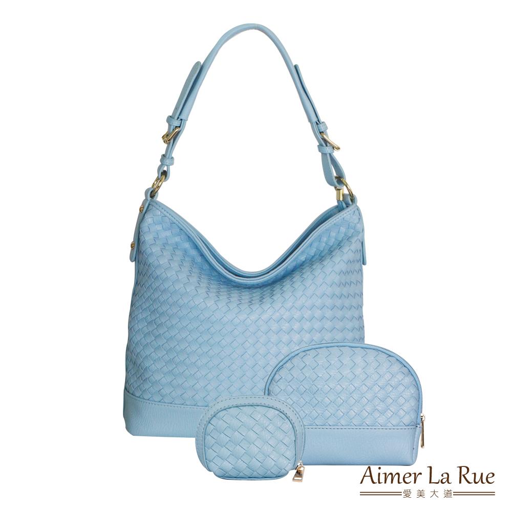 Aimer La Rue 浪漫編織手提三件組(二色)