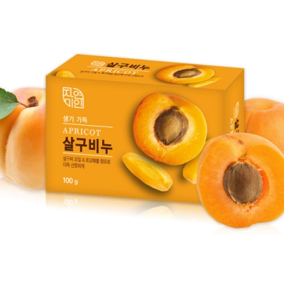 韓國 MKH無窮花-杏桃保濕美肌皂100g