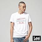 Lee  霓虹跑車短袖圓領T恤-白