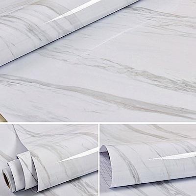 仿真大理石紋壁紙/牆紙/壁貼 60X500cm