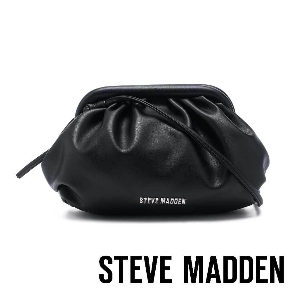 STEVE MADDEN-BNIKKI 軟綿雲朵側背包-個性黑