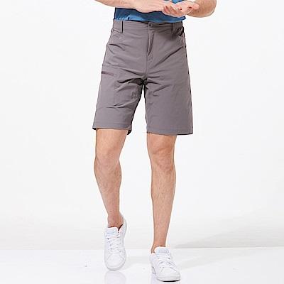 【HAKERS 哈克士】男 快乾彈性短褲-灰色