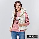 JEEP 女裝 美式風格造型連帽背心 -象牙白