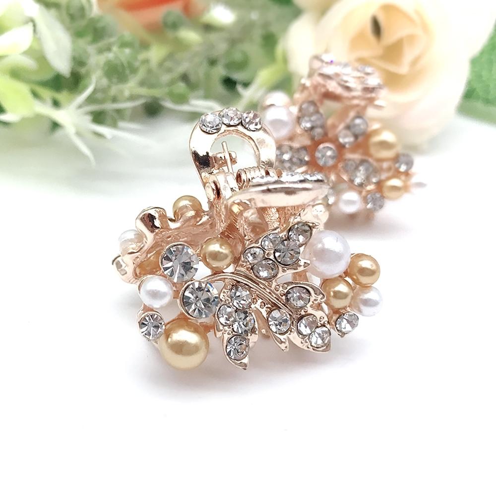 Hera 赫拉 金屬水鑽珍珠小抓夾-2款