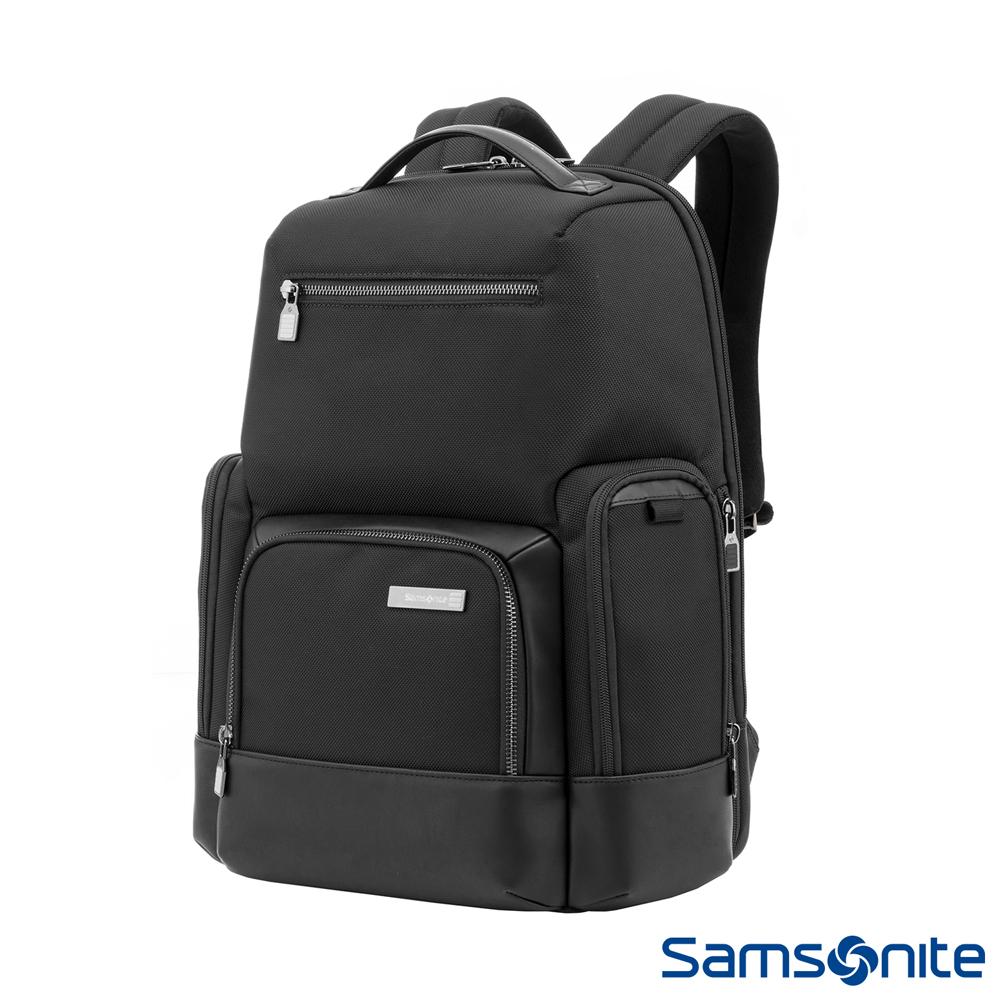 (6/1 10:00 ~6/21 10:00 送超贈點700) Samsonite新秀麗 Sefton商務智慧型筆電後背包14 (黑)
