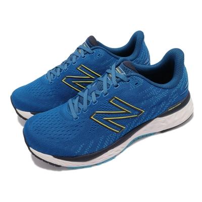 New Balance 慢跑鞋 880 2E Wide 寬楦 男鞋 紐巴倫 耐磨橡膠大底 簍空N字 穿搭 藍 白 M880F112E