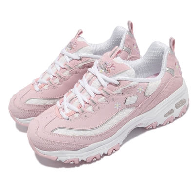 Skechers 休閒鞋 D Lites Flower Haze 女鞋 老爹鞋 厚底 斯小花 吸震 耐磨 粉 白 149466LTPK