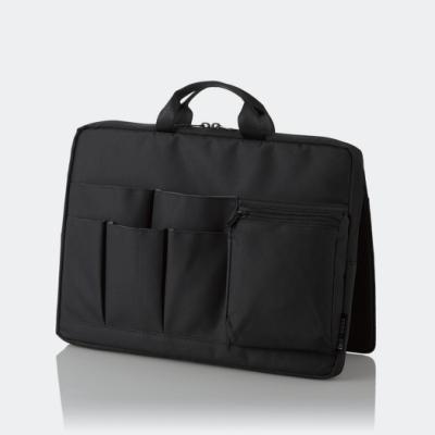 ELECOM 站立收納袋中袋(橫式)-黑