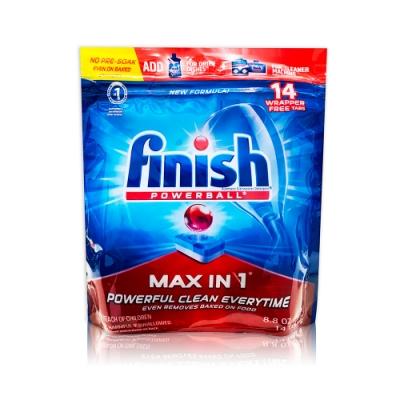 美國進口 Finish 洗碗機專用全效洗碗碇 14入
