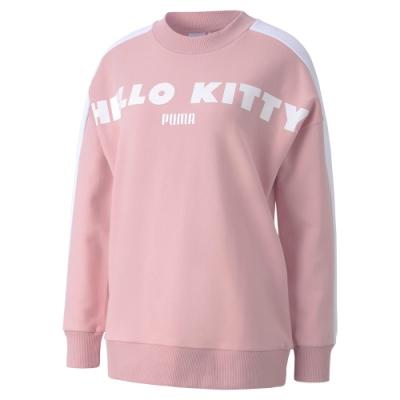 PUMA-女性流行系列Hello Kitty圓領衫-銀光粉-歐規