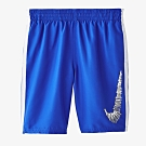NIKE 男童八吋海灘褲 藍 NESS9660-416