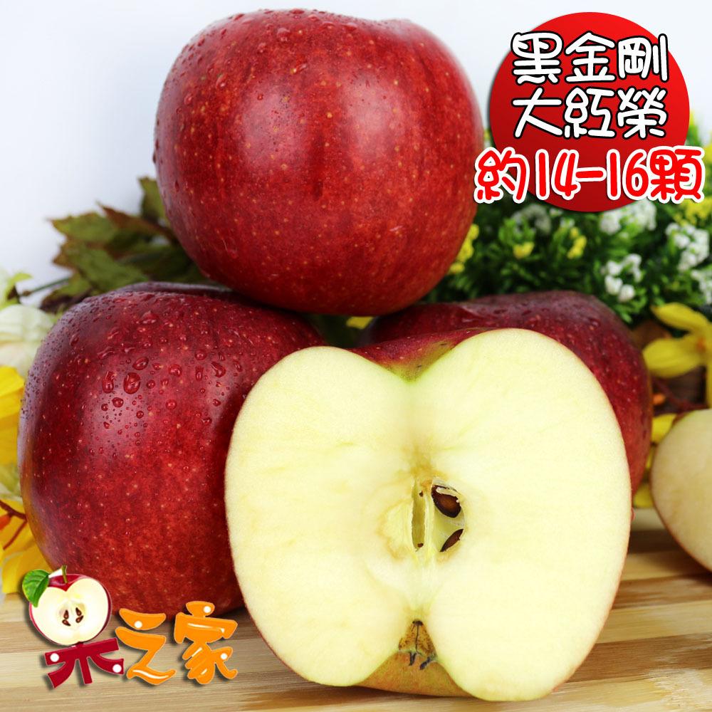 果之家 日本青森脆甜大紅榮蘋果特級14-16顆禮盒(約5kg,單顆為350-310g)